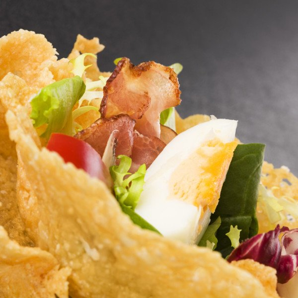 Warm Brie, Chicory and Bacon Salad