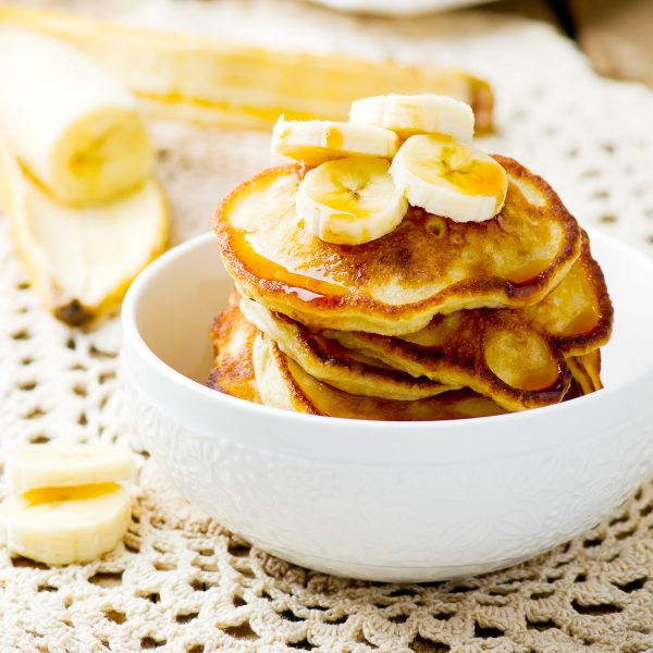 Toffee and Banana Pancakes