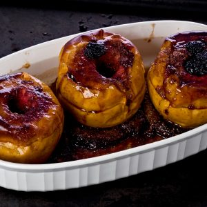Baked Apples with Toffee Sauce