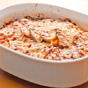 Potatoes Baked with Tomatoes